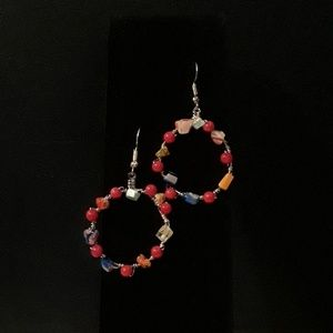 Jewelry - Millefiore hoops. Red.